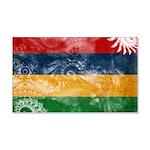 Mauritius Flag 22x14 Wall Peel