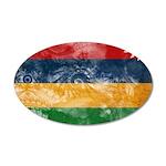 Mauritius Flag 22x14 Oval Wall Peel