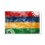 Mauritius Flag Car Magnet 20 x 12