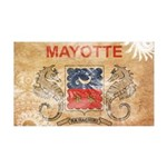 Mayotte Flag 38.5 x 24.5 Wall Peel