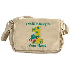 1st Birthday Monkey Boy Messenger Bag