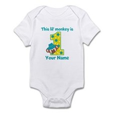 1st Birthday Monkey Boy Infant Bodysuit