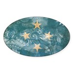Micronesia Flag Sticker (Oval 10 pk)