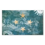 Micronesia Flag Sticker (Rectangle)