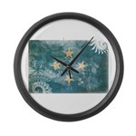 Micronesia Flag Large Wall Clock
