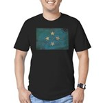 Micronesia Flag Men's Fitted T-Shirt (dark)