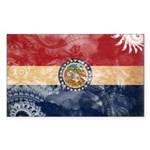 Missouri Flag Sticker (Rectangle 50 pk)