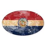 Missouri Flag Sticker (Oval 10 pk)