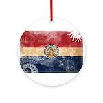 Missouri Flag Ornament (Round)