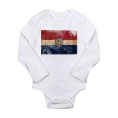 Missouri Flag Long Sleeve Infant Bodysuit