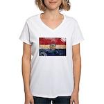 Missouri Flag Women's V-Neck T-Shirt