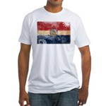 Missouri Flag Fitted T-Shirt