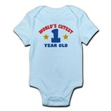 World's Cutest 1 Year Old Infant Bodysuit