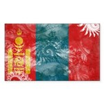 Mongolia Flag Sticker (Rectangle 10 pk)