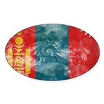 Mongolia Flag Sticker (Oval)