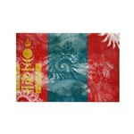 Mongolia Flag Rectangle Magnet (10 pack)