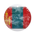 Mongolia Flag Ornament (Round)