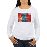 Mongolia Flag Women's Long Sleeve T-Shirt