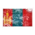 Mongolia Flag 22x14 Wall Peel