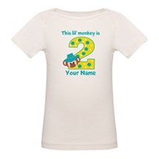 2nd Birthday Monkey Boy Tee