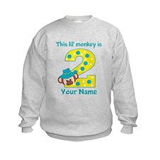 2nd Birthday Monkey Boy Sweatshirt