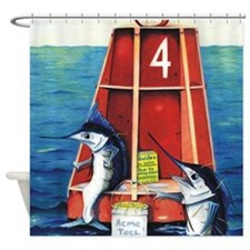 Buoy Marlins Shower Curtain