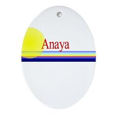 Anaya Oval Ornament