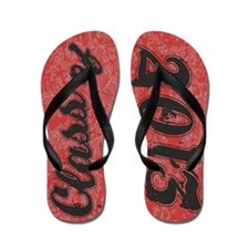 Senior Class OF 2013 RED Grunge Flip Flops