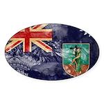 Montserrat Flag Sticker (Oval)