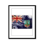 Montserrat Flag Framed Panel Print