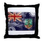 Montserrat Flag Throw Pillow