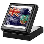 Montserrat Flag Keepsake Box