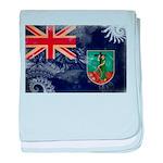 Montserrat Flag baby blanket