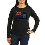 Montserrat Flag Women's Long Sleeve Dark T-Shirt