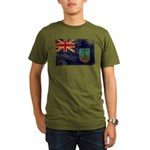 Montserrat Flag Organic Men's T-Shirt (dark)
