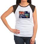 Montserrat Flag Women's Cap Sleeve T-Shirt