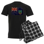 Montserrat Flag Men's Dark Pajamas