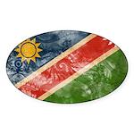 Namibia Flag Sticker (Oval 50 pk)