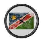 Namibia Flag Large Wall Clock