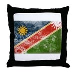 Namibia Flag Throw Pillow
