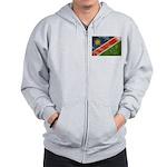 Namibia Flag Zip Hoodie