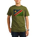 Namibia Flag Organic Men's T-Shirt (dark)