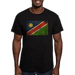 Namibia Flag Men's Fitted T-Shirt (dark)