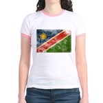 Namibia Flag Jr. Ringer T-Shirt