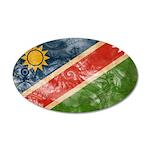 Namibia Flag 22x14 Oval Wall Peel