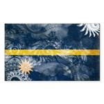 Nauru Flag Sticker (Rectangle 10 pk)