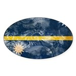 Nauru Flag Sticker (Oval 50 pk)