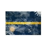 Nauru Flag Rectangle Magnet (100 pack)