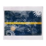 Nauru Flag Throw Blanket