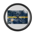 Nauru Flag Large Wall Clock